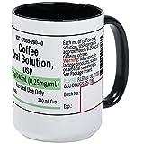 CafePress–Kaffee Tassen,–Kaffee Tasse, groß 15Oz Weiß Kaffee Tasse, keramik, White/Black Inside, Large