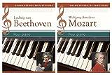 Ludwig van Beethoven, Wolfgang Amadeus Mozart pour piano - Coffret 2 volumes