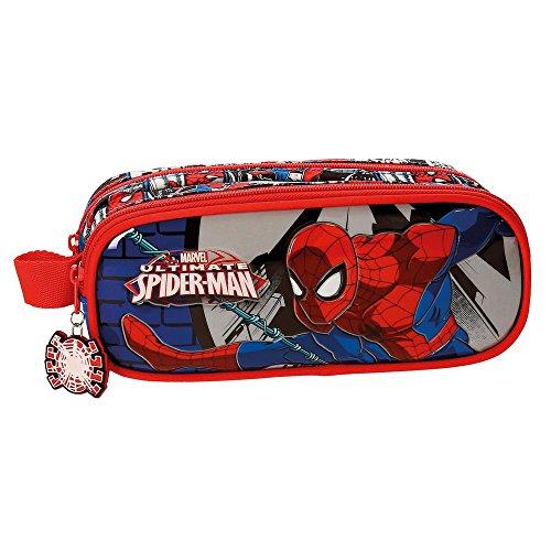 Spiderman Comic Neceser de Viaje, 23 cm, 1.45 litros, Multicolor