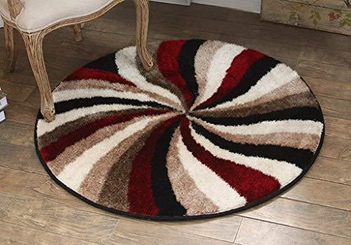 Carpet vuoto lavabile durevole tappeto comunità stile rotondo tappeto tavolino lounge studio camera da letto computer girevole sedia amaca tappeto tappetino casa quotidiano,150 * 150cm,marrone