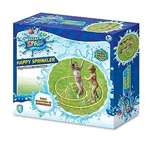 Xtrem Toys 00326 Happy Sprinkler - Juguete Divertido para niños a Partir de 6 años, Ideal para el jardín, en Verano, fácil de conectar a la Manguera de jardín
