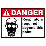 Diuangfoong Schild mit Aufschrift Respirators Required Beyond This Point Danger, 45,7 x 30,5 cm