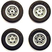 LEGO Räder 10 Stück komplett mit Achse Reifen!