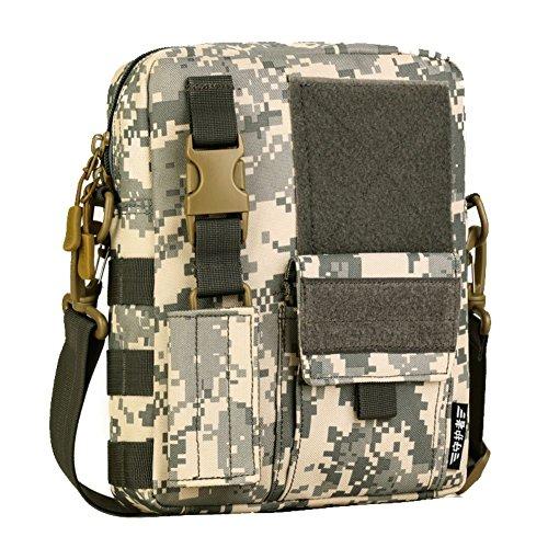 Reefa Vertikale Version Tarnung Freizeit Commuter Tasche Messenger Bag Umhängetasche Männer für Outdoor Reisen Sport Fitness B-Tarnung