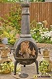 Bronze 130cm High Jumbo Cast Iron Chiminea Chimenea Chimnea With Bbq Grill