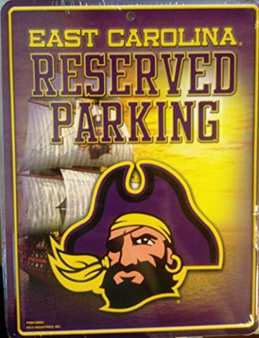 NCAA East Carolina Pirates Metal Parking Sign
