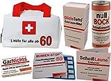 Erste Hilfe Tasche zum 60. Geburtstag (6-teilig)