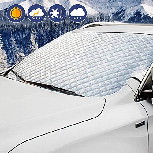 Auto Windschutzscheibe Abdeckung, Sonnenschutz Ultra Dick Schutz Schnee EIS Frost UV Staub Wasserdicht Für Die Meisten Auto SUV LKW 147 cm * 100 cm,L