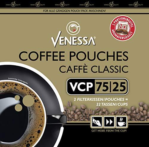 Venessa VCP 75/25 Coffee Pouches 40 x 65 g, Caffè Classic, Für alle gängigen Pouch Pack Maschinen