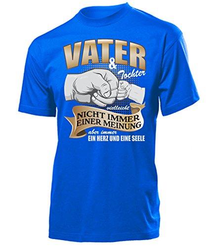 love-all-my-shirts Vater und Tochter Vielleicht Nicht Immer Einer Meinung aber Immer ein Herz und eine Seele 5368 Herren T-Shirt (H-B) Gr. L - Blau Tragbarer Grill