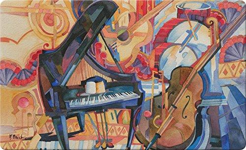Toland Home Garden Orchestra 45,7x 76,2cm Deko Musik Fußmatte Piano Bass Instrument Fußmatte -