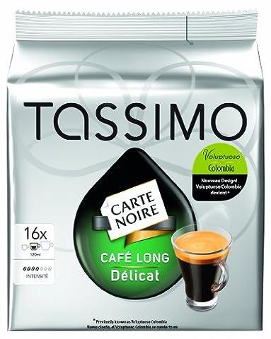 Tassimo Carte Noire Café Long Delicat (ehemals Voluptuoso Colombia),5er Pack