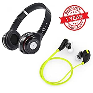 MacBerry Nexus 6P Compatible High base bluetooth headphones with sports bluetooth headset (Assorted color)