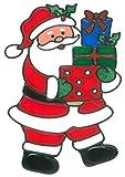 MagicGel Fensterbilder Weihnachten - Nikolaus mit Geschenken (17 x 24 cm), Fensterdeko für das Basteln mit Kindern