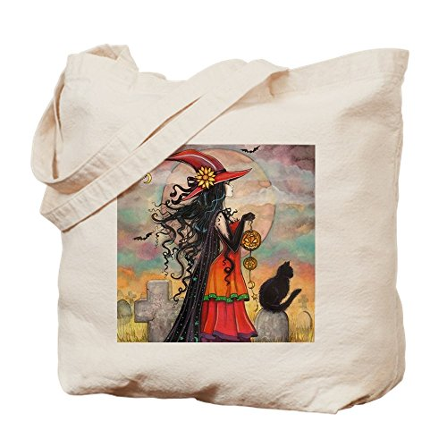 Way Halloween Hexe Art–Leinwand Natur Tasche, Reinigungstuch Einkaufstasche Tote S khaki (Am Besten Kaufen Sie Halloween)