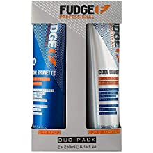 Fudge Professional Cool Brunette Blue-Toning Anti-Orangestich Duo Pack Shampoo 250 ml und Conditioner 250 ml