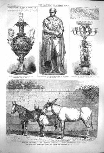 Manifestazione 1864 di Islington degli Asini di Duca Bedford Milne della Statua [Cucina & Casa]