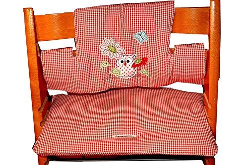 Sitzbezug, Sitzkissen für Tripp Trapp 2-tlg, C-Fashion-Design, Eule,
