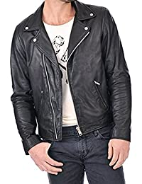 Flesh & Hide F&H Mens Synthetic Leather Double Rider Jacket FJ111
