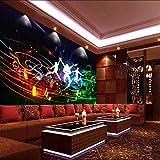 LONGYUCHEN Tapete 3D Rockmusik Thema Geeignet Für Bar Ktv Wand Sofa Hintergrund Seide Wandgemälde,160Cm(H)×250Cm(W)