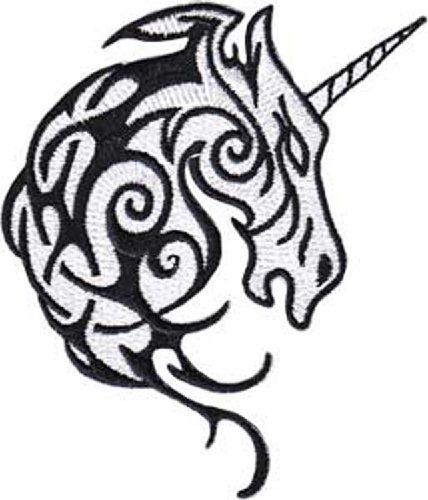 UNICORN Tribal Head, Officially Licensed Original Artwork, Premium Quality Iron-On / Sew-On, 2.5