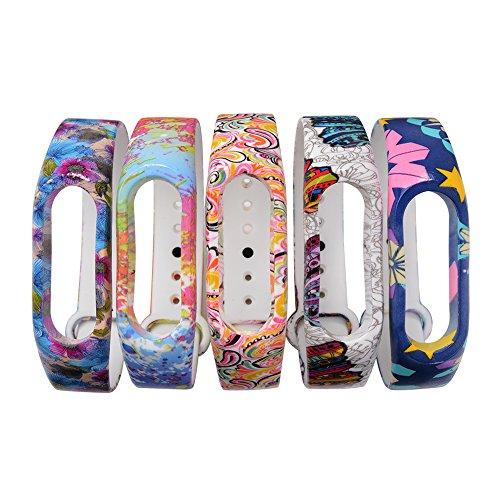 xcsourcer-5-piezas-correa-de-muneca-de-muneca-de-reemplazo-de-patron-de-flores-para-xiaomi-mi-2-bran