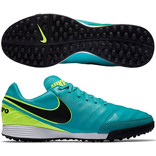 Nike Tiempox Mystic V Tf, Scarpe da Calcio Uomo Turchese (Clear Jade Türkis/schwarz)