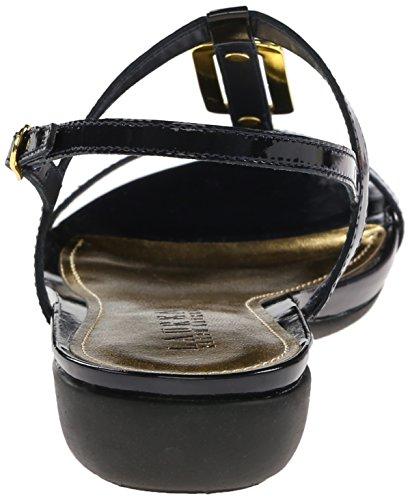 Lauren Ralph Lauren Kat Cuir verni Sandale Modern Navy Patent