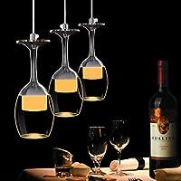 KJLARS 3W x 3 Vertro tazza chiara lampada a sospensione