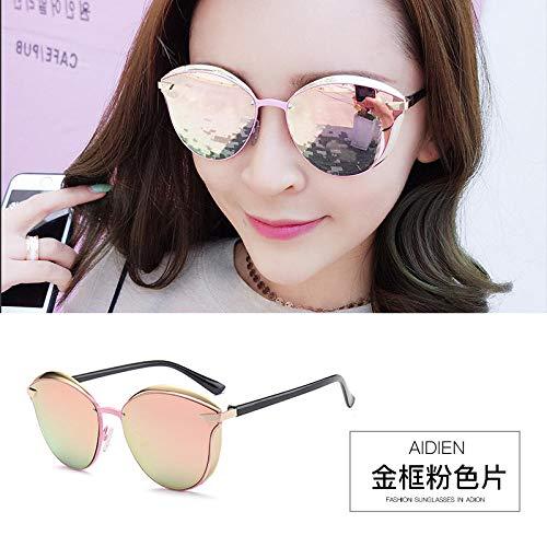 New 2019 Sonnenbrille weibliche Flut ins Stern mit der gleichen polarisierten Brille Retro Persönlichkeit Sonnenbrille rundes Gesicht langes Gesicht GM