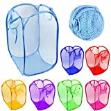 SAHAYA Combo Set of 2 pcs Laundry Bag for dirty clothes or storage of kids toys, Daily Use Laundry bag,Organizer ( Polyester Mesh fabric 36X 58 cms)
