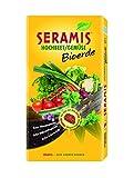 Seramis Hochbeet/Gemüse Bioerde 17,5 L Torffreie Erde, gelb, 40,0 x 7,7 x 80,0 cm, 730673