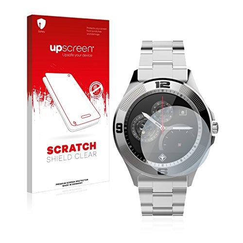 upscreen Scratch Shield Schutzfolie kompatibel mit Tiger Smartwatch London - Kristallklar, Kratzschutz, Anti-Fingerprint -