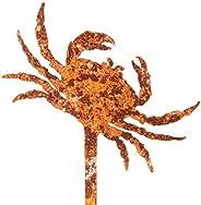 Galionsfigur Krabbe | Designer Blumenstecker Edelrost - 30cm hoch, Maritime Deko, Made in Germany