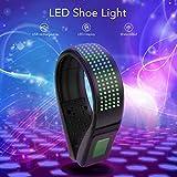 BASEIN LED Sicherheitslicht Clip, USB Wiederaufladbare LED Schuhclip Leuchte, wasserresistentesIP67 Lauflichtmit11BlinkmodifürnächtlichesLaufen,Joggen,Gehen,Radfahren (Grün)