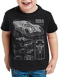 style3 917K Dessin Bleu T-Shirt pour enfants Le Mans