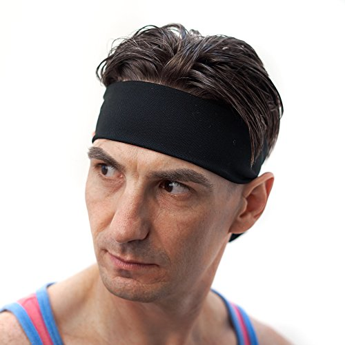 mens-sweatband-headband-red-dust-active-guys-black-sports-head-tie-great-for-tennis-running-crossfit