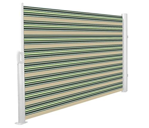 Primrose 3 x 1.6m Store Latéral Paravant Coffre Entier Manuel (Multi-Rayure)