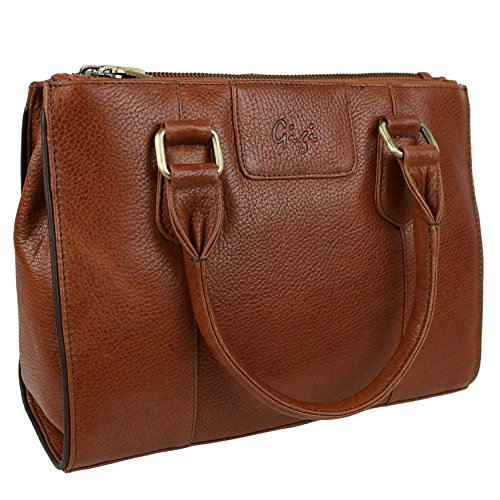 Gigi, Borsa a mano donna Marrone Brown Medium Tan