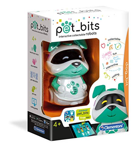 Clementoni Dog Bit Sapientino Pet Bits Robot Educativo Collezionabile Coding Multicolore 12099