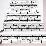 HAIMACX Treppenhaus Aufkleber Farbe Tal Selbstklebende Wandaufkleber Dekorative Malerei Wandaufkleber 6 Treppen Aufkleber Grau Weiße Wand