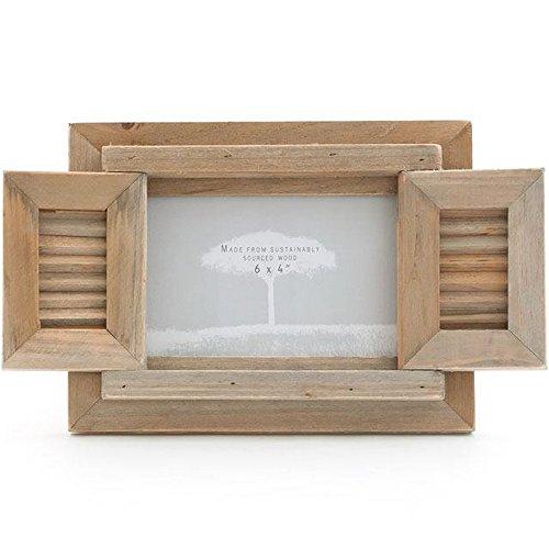 Something Different Treibholz-Bilderrahmen mit Fensterläden (Einheitsgröße) (Braun)