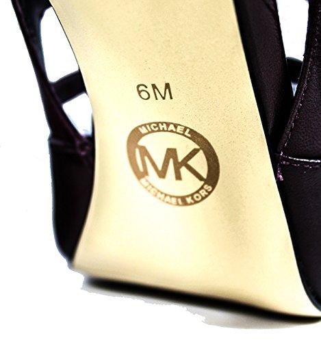 Nuova collezione Calzature Donna MICHAEL KORS marta pump tronchetto, tacco alto, tinta unita, chiusura con 4 cinturini regolabili, suola in gomma Bordeaux