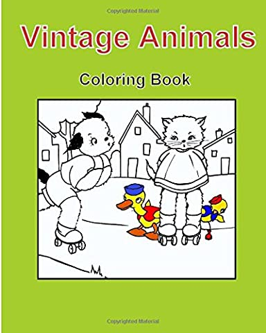Vintage Animals Coloring Book: Coloring Book, Vintage 1941, Children's Book,