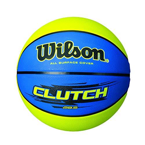 WILSON Clutch Basketball, mittelgroß, 71,9 cm, Blau/Limettengrün