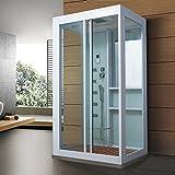Home Deluxe - Duschkabine - White Luxory XL - Maße: 120 x 90 x 220 cm - inkl. Dampfsauna und komplettem Zubehör - 2