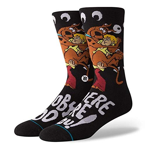 Haltung Mens Neue Klassische Crew Scooby Doo Komfort Schwarze Socken Large UK 9 - UK 12