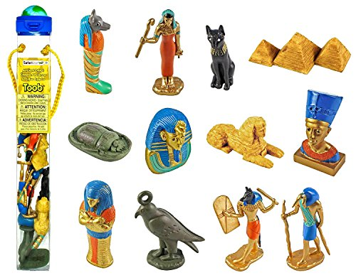 The Ancient Egypt Toob from Safari Ltd is an awe-inspiring introduction to the figures of Egyptian lore. Safari Ltd TOOBS are collections of individually hand painted miniature replicas featuring vibrant colors, fine, professional sculpting, and accu...