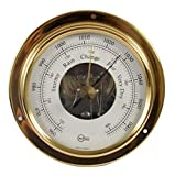 Barigo 1710 Schiffsbarometer Barometer Tempo S messing analog 88mm