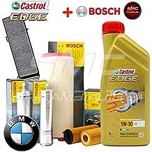 Kit Tagliando con 7 L Aceite Motor Castrol Edge 5 W30 C3 + 4 Filtros ORIGINALES
